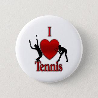 Iハートのテニス 5.7CM 丸型バッジ