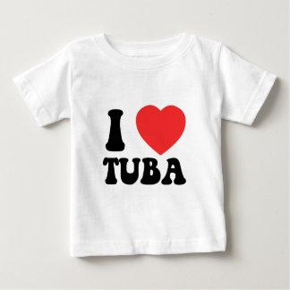 Iハートのテューバの衣類 ベビーTシャツ