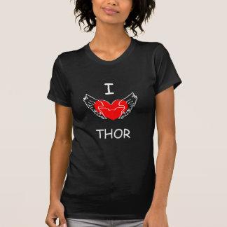 Iハートのトールの黒 Tシャツ