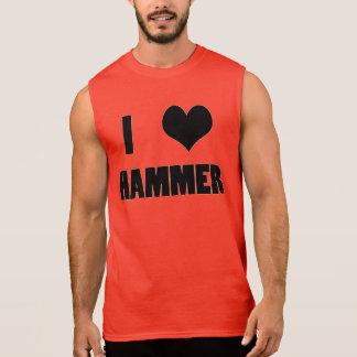 Iハートのハンマー、ハンマー投げのタンクトップ 袖なしシャツ