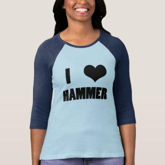 Iハートのハンマー、ハンマー投げのワイシャツ Tシャツ