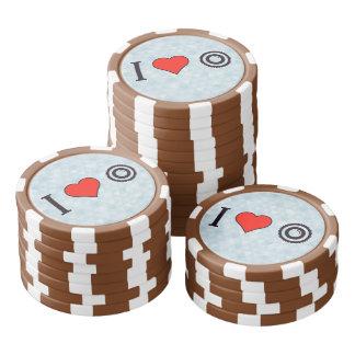 Iハートのビデオ・カメラ ポーカーチップ