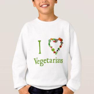 Iハートのベジタリアン スウェットシャツ