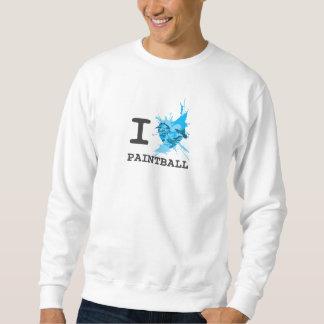 Iハートのペイントボールのワイシャツ スウェットシャツ