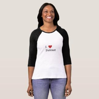 IハートのポッドキャストのTシャツ Tシャツ