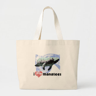Iハートのマナティー ラージトートバッグ