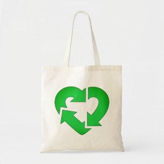 Iハートのリサイクル トートバッグ