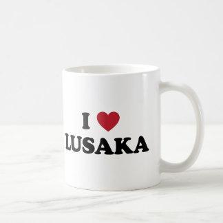 Iハートのルサカのザンビア コーヒーマグカップ
