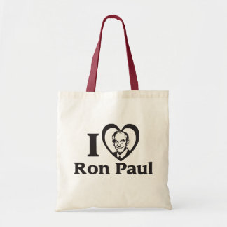 Iハートのロン・ポールのトートバック トートバッグ