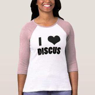 Iハートの円盤投げ、円盤投げのワイシャツ Tシャツ