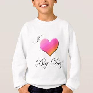 Iハートの大きい犬 スウェットシャツ