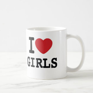 Iハートの女の子のコーヒー・マグ コーヒーマグカップ