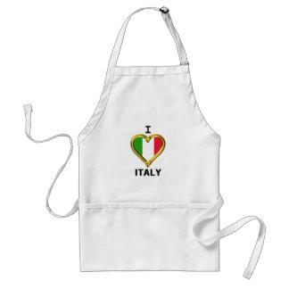Iハートの旗イタリア スタンダードエプロン