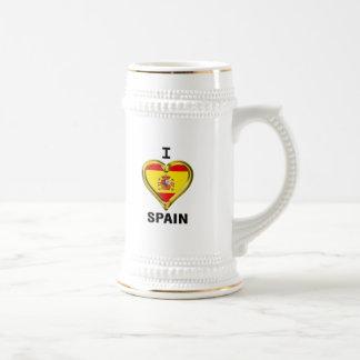 Iハートの旗スペイン ビールジョッキ