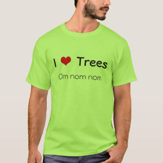 Iハートの木、omのnomのnom Tシャツ
