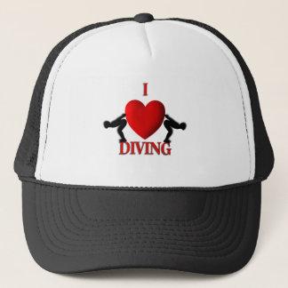 Iハートの潜水のスポーツの帽子 キャップ