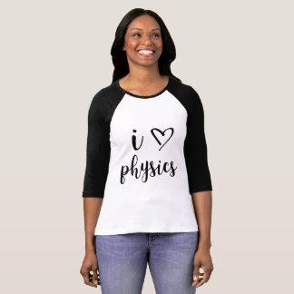 Iハートの物理学の女性Raglan Tシャツ