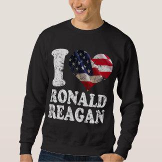 Iハートの米国旗ロナルド・レーガン スウェットシャツ