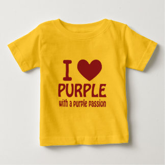 Iハートの紫色 ベビーTシャツ