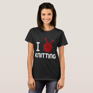 Iハートの編むこと Tシャツ