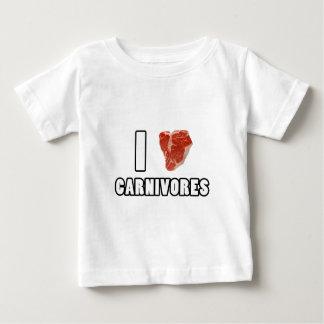 Iハートの肉食獣 ベビーTシャツ