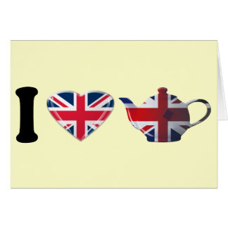 Iハートの英国の茶ギフト カード
