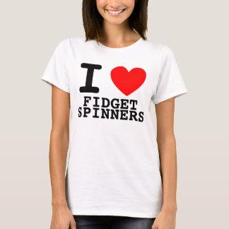 Iハートの落着きのなさの紡績工 Tシャツ