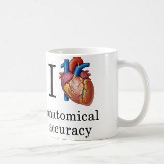 Iハートの解剖正確さのマグ コーヒーマグカップ