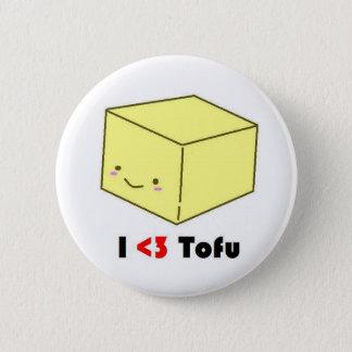 Iハートの豆腐 5.7CM 丸型バッジ
