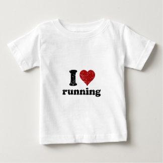 Iハートの走ること ベビーTシャツ