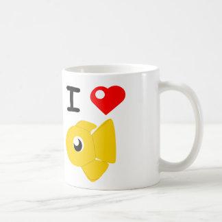 Iハートの金魚Plushies コーヒーマグカップ