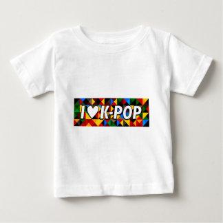 Iハートの韓国人の破裂音 ベビーTシャツ
