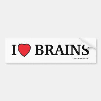 Iハートの頭脳 バンパーステッカー