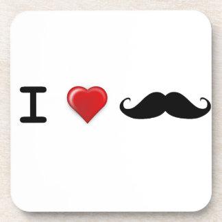 Iハートの髭 コースター