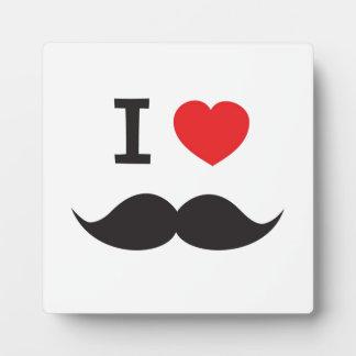Iハートの髭 フォトプラーク