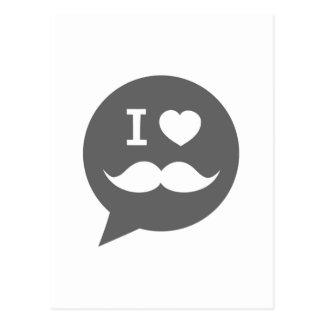 Iハートの髭 ポストカード