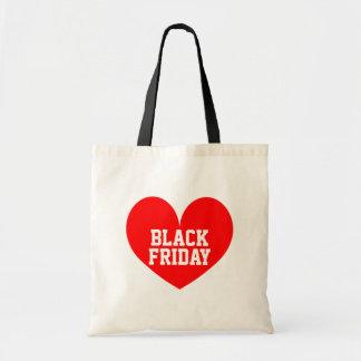 Iハートの黒い金曜日のショッピングのトートバック トートバッグ