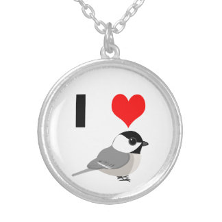 Iハートの《鳥》アメリカゴガラ シルバープレートネックレス