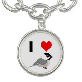 Iハートの《鳥》アメリカゴガラ チャームブレスレット