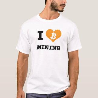 IハートのBitcoin鉱山IはBitcoin鉱山です Tシャツ