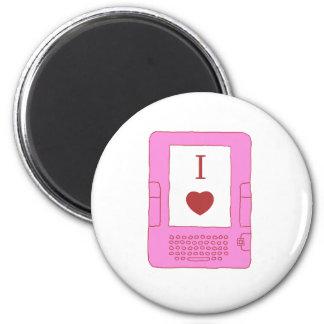Iハートのebooks (ピンク) マグネット
