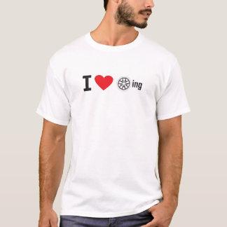 Iハートのfuch回転 Tシャツ
