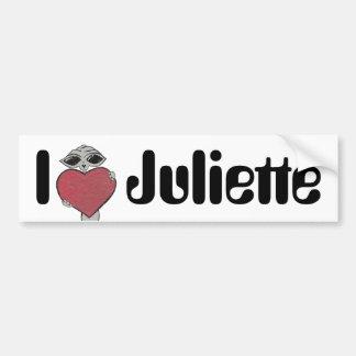 IハートのJulietteのエイリアン バンパーステッカー