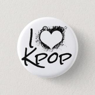 IハートのKpopボタン 3.2cm 丸型バッジ
