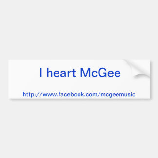 IハートのMcGeeのバンパーステッカー バンパーステッカー