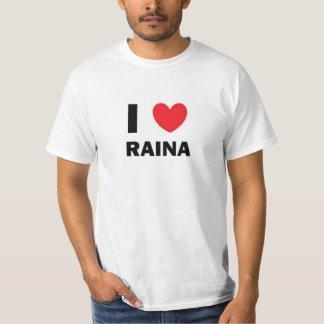 IハートのRainaのユニセックスなティー Tシャツ