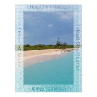 IハートのSint Maartenの郵便はがき ポストカード