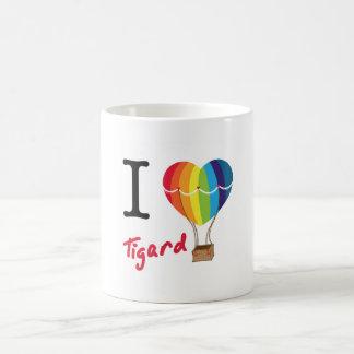 IハートのTigardのマグ コーヒーマグカップ