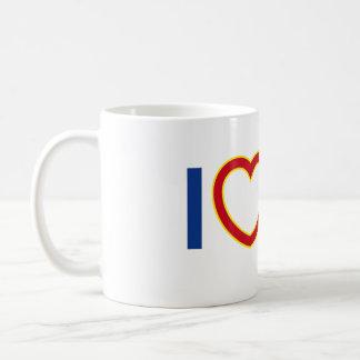 IハートのYUのマグ コーヒーマグカップ