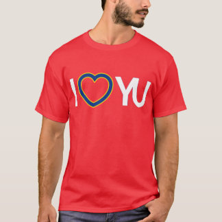 IハートのYUのTシャツの赤 Tシャツ